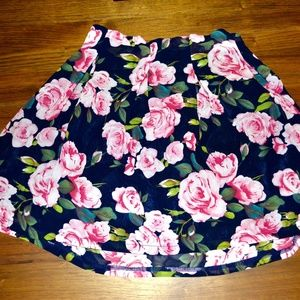 Floral Pleated Party Skirt